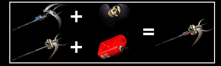 Game help add a reaper mask to the fire reaper or add a gasoline canister to the death mask reaper the ultimate version is a flaming scythe that shoots flaming malvernweather Images